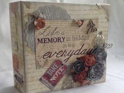 Stationers Desk Paper Bag Scrapbook Album Featured Image