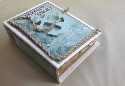 ANOTHER 3 Page Interactive Mini Scrapbook Album Online Tutorial