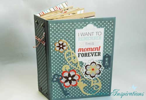 Interactive 3 Page Mini Scrapbook Album