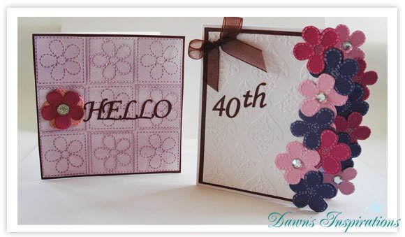 Flower Embossing Folder Cards