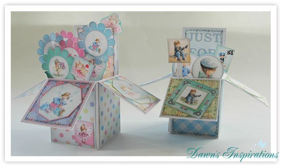 Angelica & Adam Pop Up Box Cards