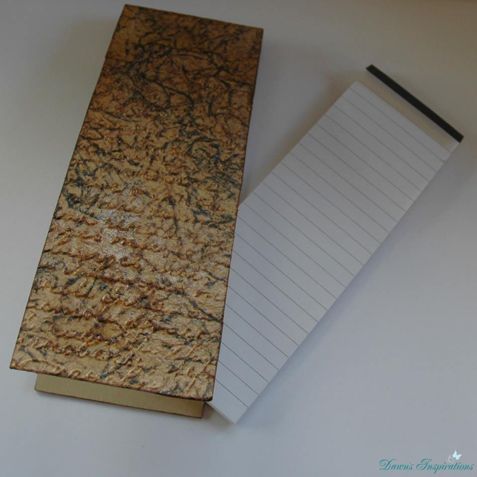 Faux Leather Notebook Cover Tutorial