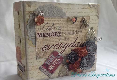 Stationers Desk Paper Bag Scrapbook Album Online Workshop
