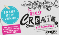 Come and see me at The Great Create Extravaganza in York this weekend