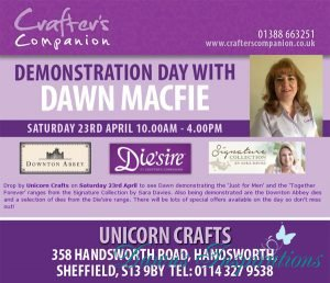 Crafters Companion Demo Day Unicorn Crafts Sheffield