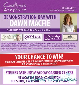 Crafters Companion Demo Day at Strikes Astbury Meadow Garden Centre