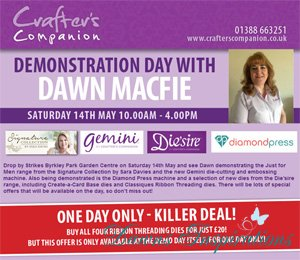 Crafters Companion Demo Day Strikes Byrkley Park Garden Centre