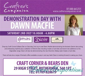 See me at Craft Corner & The Bears Den in Rotherham this Saturday