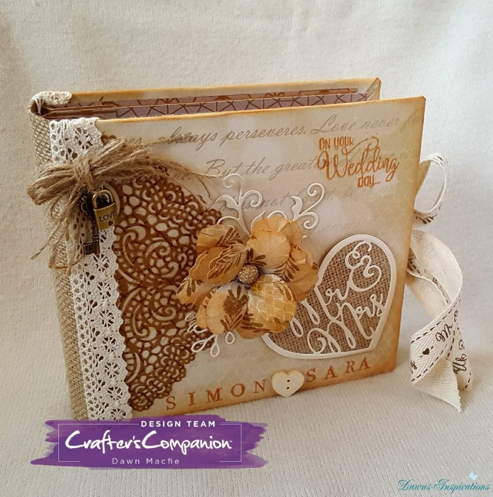 6×6 Rustic Wedding Mini Album.