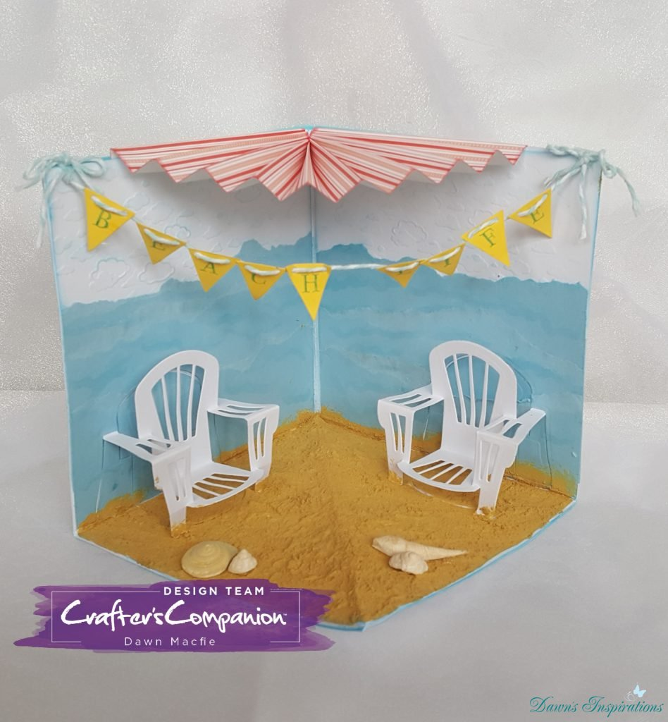 Beach Scene Card using Dimensional Dies